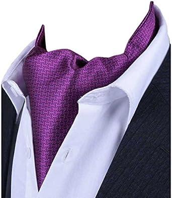 L04BABY Mens Classic Purple Jacquard Woven Formal Suit Tie Necktie+Pocket Square