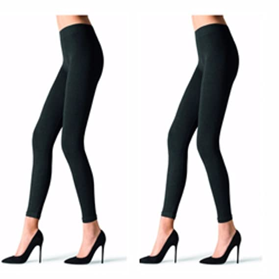 614cdd2805a9b9 N2S NEXT2SKIN - Ladies Opaque Footless Tights - Black Color - Pack of 2:  Amazon.in: Clothing & Accessories