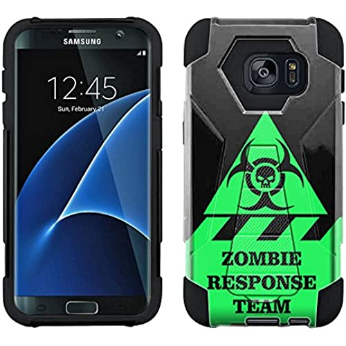 Samsung Galaxy S7 Edge Hybrid Case Warning Zombie Response Team 2 Piece Style Silicone Case Cover with Stand for Samsung Galaxy S7 Edge Sales