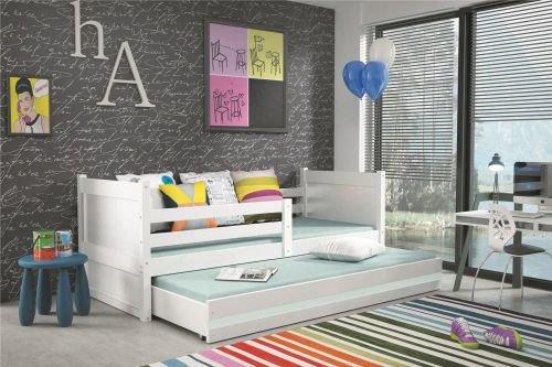 Kinder - Doppelbett Nico Weiß Farbe W = weiß, Größe Liegefläche 200 x 90 cm