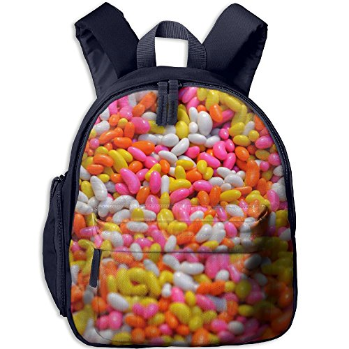 - Children's School Bag Colorful Candy Sweet Beans Candy Sugar Beans Peas Yellow Food Pink Shoulder Bag Navy