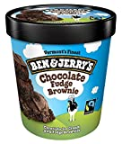 Ben & Jerry's - Vermont's Finest Ice Cream, Non-GMO - Fairtrade - Cage-Free Eggs - Caring Dairy - Responsibly Sourced Packaging, Chocolate Fudge Brownie, Pint (4 Count)