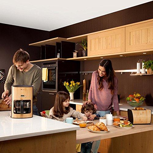 klarstein bamboo garden fr hst cksset 3 teiliges k chenset aus bambus kaffeemaschine mit timer. Black Bedroom Furniture Sets. Home Design Ideas