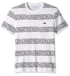 540642f19 Lacoste Men's S/S Printed Stripes Jersey T-Shirt, PHYSALIS, Small |  Amazon.com