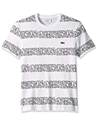 761649e3 Lacoste Mens S/S Printed Stripes Jersey T-Shirt T-Shirt