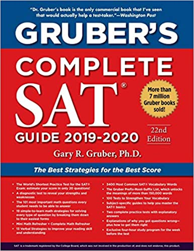 best scores of 2020 Gruber's Complete SAT Guide 2019 2020: Gary Gruber PhD