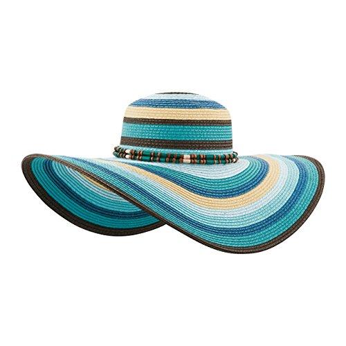 MG Womens Toyo Braid Color Block Sun - Wide Toyo Braid Hat