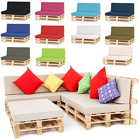 pallet furniture garden. Outdoor Garden Pallet Furniture Seating Corner Sofa - Seat Cushion Black: Amazon.co.uk: \u0026 Outdoors C