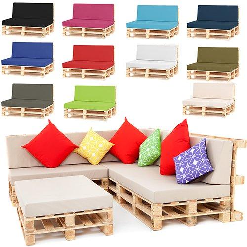 Shopisfy Outdoor Garden Pallet Furniture Seating Corner Sofa Back Cushion Large Black