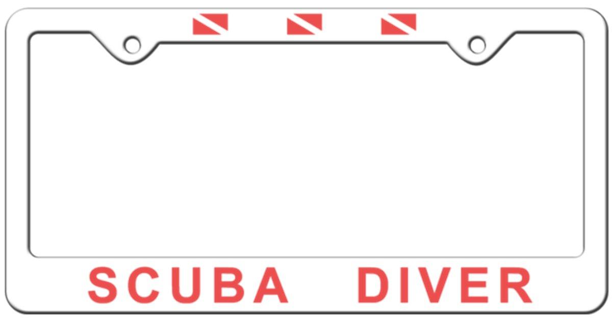 Innovative Scuba Concepts Car License Plate Frame Scuba Diver Plastic AU15