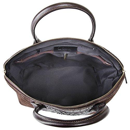 Cluty Leder Damen Handtasche Glattleder Handtasche