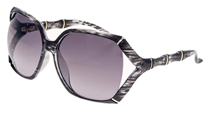 d5a4d969673a0 Image Unavailable. Image not available for. Color  GUCCI Bamboo GG0505S  Grey Horn Gold Sunglasses 3508