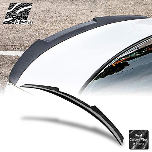 AeroBon Real Carbon Fiber Rear Trunk Spoiler for 05-12 BMW E90 3-Series /& E90 M3 High Kick Type