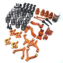 Include: Aluminum Front Y Arm for Sprint2 RWD Drift( SPT2-S04) Orange (1 pc) Aluminum Rear Y Arm for Sprint2 RWD Drift (SPT2-S04) Orange (1 pc) Aluminum Front Upper Arm for Sprint2 RWD Drift (SPT2-S04) Orange (1 pc) Aluminum Rear Upper Arm fo...