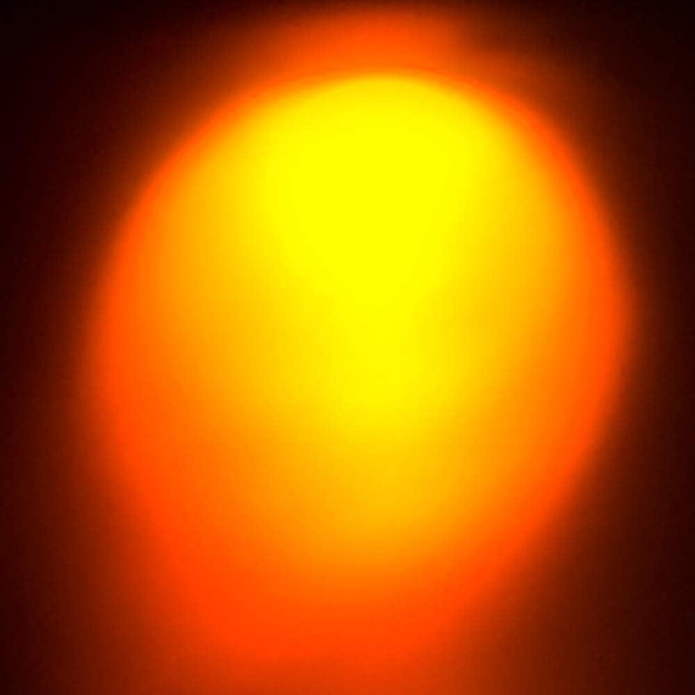 10 diodi LED cablati supporto in plastica arancione obiettivo chiaro 6 V 5 mm