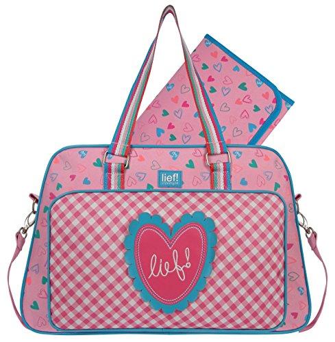Lief! 440-6156 Sprinkles - Bolso cambiador (31 x 39 x 14 cm), color rosa