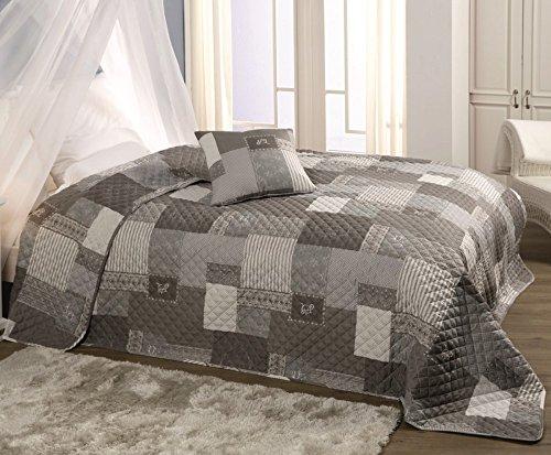 Bett Sofaüberwurf gesteppt 220x240 Überwurf Tagesdecke Decke Plaid Bettüberwurf Spieldecke patchworkdecke, Design - Motiv:Design 5