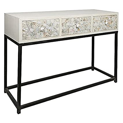 Mother Of Pearl Inlay Wooden Modern Antique Handmade Console Table