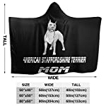 MAOYIHO Polo American Staffordshire Terrier MOM Hooded Blanket Kids & Adults Sherpa Fleece Blanket 8