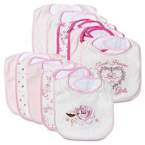Little Me 10 Pack Waterproof Bibs For Baby Boys   Girls  0 12 Months