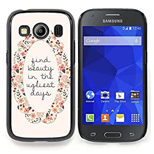 """For Samsung Galaxy Ace Style LTE/ G357 Case , Encuentra Belleza motivación de la guirnalda de la flor"""" - Diseño Patrón Teléfono Caso Cubierta Case Bumper Duro Protección Case Cover Funda"""