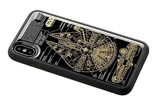 スター・ウォーズ FLASH M-FALCON 基板アート iPhoneXケース 黒の商品画像