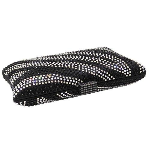 Silk Bag Bag Clutch Cheongsam Dinner Diamond Bag Banquet Rhinestones Ladies Chain Handbag Evening Black Bag Fashion Sqaggfv