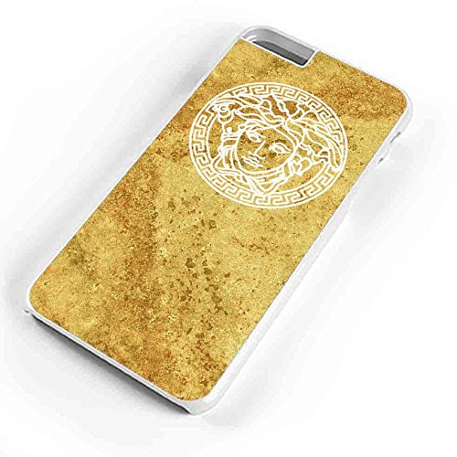 Versace Logo Gold Marble iPhone 6S Plus Case White