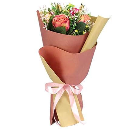 Amazon Com Bbc Korean Style Double Colors Craft Paper Flower