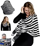 Nursing Breastfeeding Cover Scarf - Baby Car Seat Canopy, Shopping Cart, Stroller, Car seat Covers for Girls and Boys - Best Multi-Use Infinity Stretchy Shawl