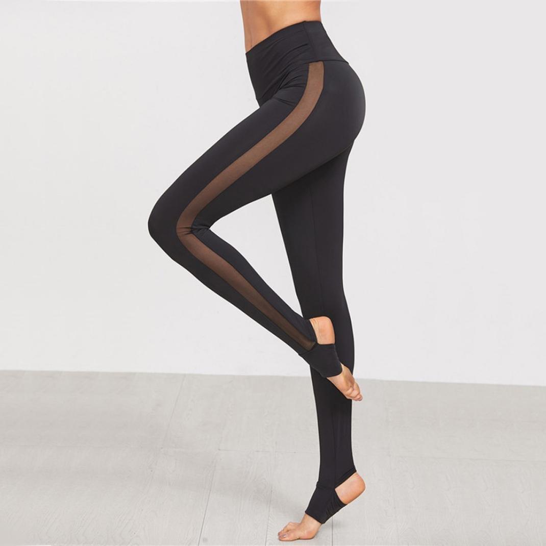 Feixiang Pantalones Yoga Mujeres, Sexy elástica Yoga Pantalones ...