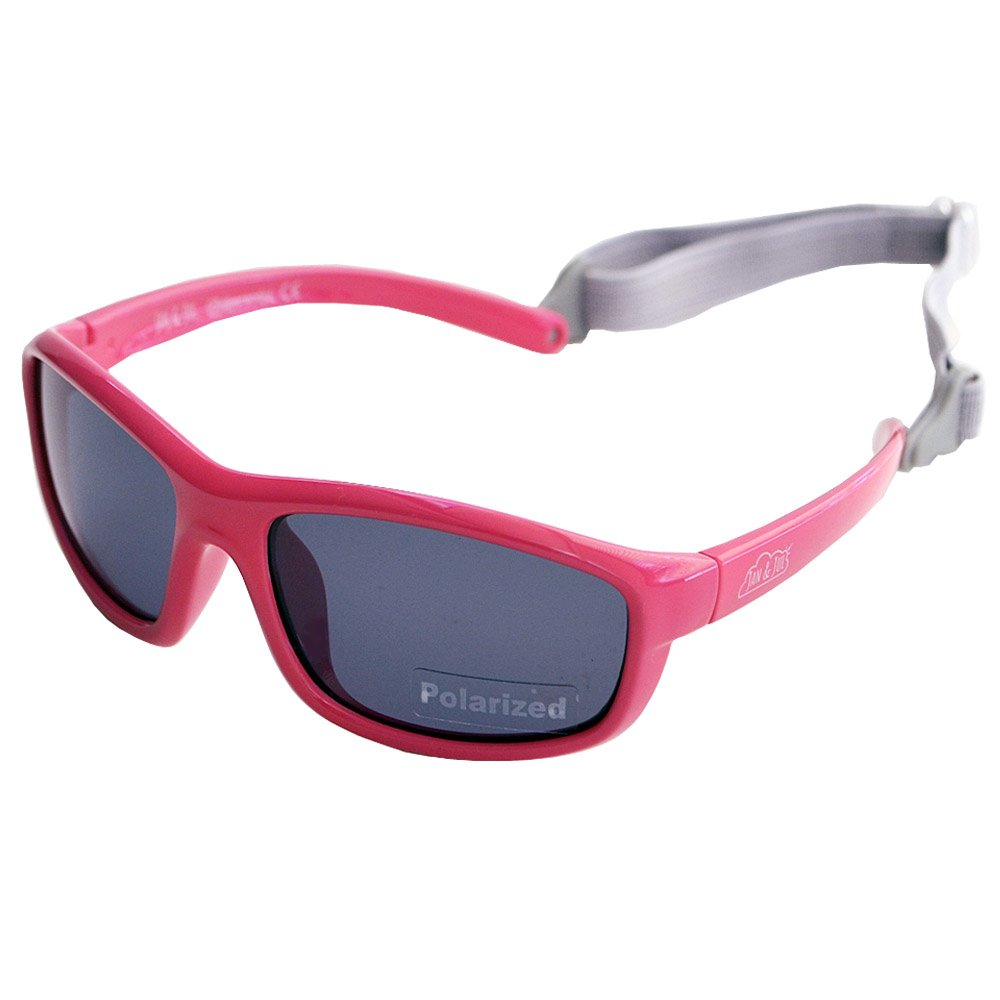 Baby Toddler Polarized Sunglasses With Strap 100% UV Block (M: 2-6Y, Hot Pink)