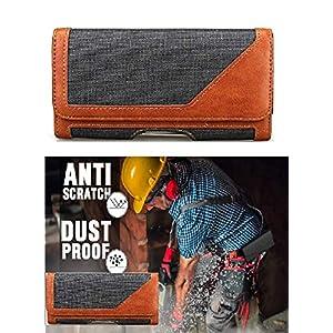 Realtech Belt Holster Leather Case Cover Clip Magnetic Closure for vivo X60 Pro 5G / vivo iQOO 7 / vivo X60 5G – Brown