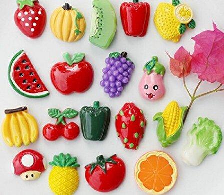 Varios colores Melife Creative frutas imanes de imanes para Nevera ...