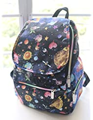 Lightweight Durable Waterproof Nylon Mini Backpack Printed Pattern