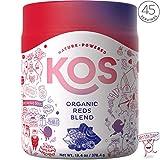 KOS Organic Reds Blend | Amazing Tasting Red Juice Powder Energy Blend | Hydrating, Antioxidant Rich, Resveratrol, Superfood Ingredients, 378.4g, 44 Servings