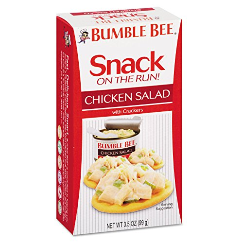 BUMBLE BEE Snack on the Run! Chicken Salad with Crackers (Pack of 12 / 3.5 oz kit) ()