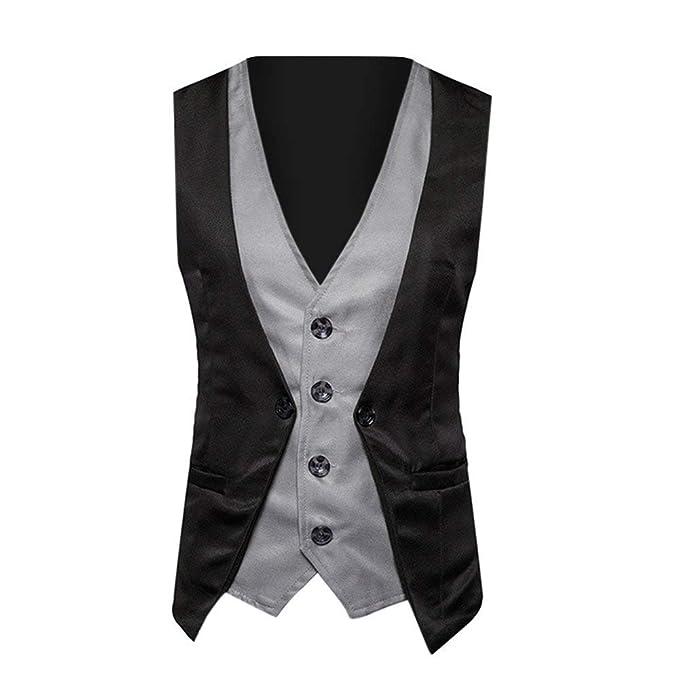 Amazon.com: DondPO - Chaleco para hombre de corte ajustado ...