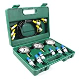 Hydraulic Pressure Test Kit 25/40/60MPa for 9000PPSI Excavator Hydraulic Pressure Test Guage Kit Working, with 3pcs Oil Gauges and Test Hose 6pcs Text Coupling Excavator Construction Machinery