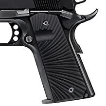 Cool Hand 1911 Full Size Tactical G10 Grips for Pistol Government / Commander with Ambi Safety include 1911 Grips Screws Black