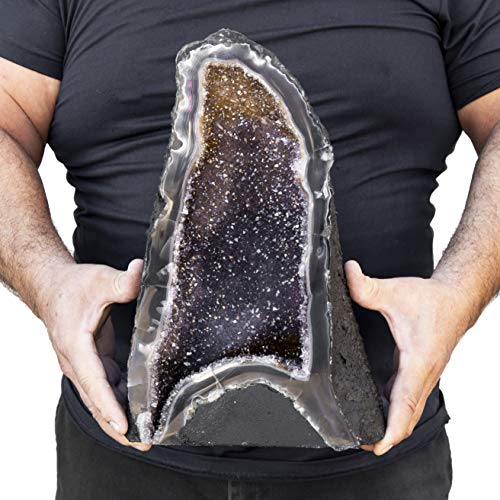 Beverly Oaks Large Amethyst Crystal Cathedral ~ Raw Amethyst Stone Geode ~ 20.50 lb Amazing Amethyst Cluster (AC-51G)