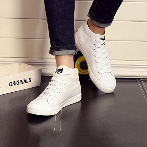 YIXINY Chaussures de sport 114327221 Printemps Et Automne Nouvelle Confortable Respirante Mode Coréenne Casual Hommes Chaussures ( Couleur : Blanc , taille : EU39/UK6/CN39 ) Blanc