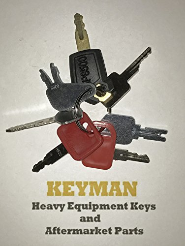 Keyman 7 Keys Heavy Equipment Key Set / Construction Ignition Keys Set