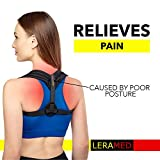Leramed Posture Corrector for Women Men - Effective and Comfortable Adjustable Posture Correct Brace - Posture Brace - Clavicle Support Brace - Posture Support - Upper Back Pain Relief