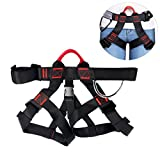 YaeTek Climbing Harness Safety Seat Belt for Mountaineering Fire Rescue Rock Climbing Gym Reppelling Women Men Child Half Body Guard Protect Harness