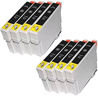 Win-tinten 8 cartuchos de tinta T1811 negra de recambio para ...