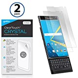 BlackBerry Priv Screen Protector, BoxWave® [ClearTouch Crystal (2-Pack)] HD Film Skin - Shields From Scratches for BlackBerry Priv