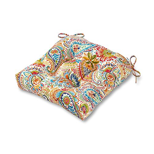 - Greendale Home Fashions 20-inch Outdoor Chair Cushion in Painted Paisley, Jamboree