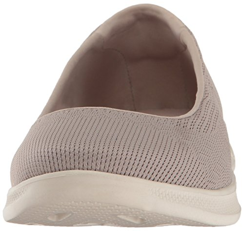 Skechers GO STEP Lite Blush Damen Sommerschuhe Slip On Slipper NVW Ballerinas Taupe