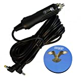 HQRP Car Charger for Bush CDVD100W1SW / WA-12M12FK / CDVD12SW / DVD1205BUK / CGSW-1201500 Portable DVD Player, 12-volt Vehicle Power Adapter + HQRP Coast